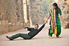 Funny punjabi couple pre wedding photography ❤️