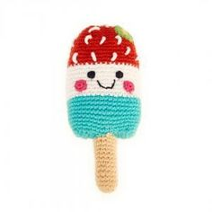 Red White & Blue Popsicle - Fair Trade Knitted Baby Rattle Red White Blue Popsicle, Red And White, Cute Little Baby, Little Babies, Knitted Baby, Baby Knitting, Baby Rattle, Popsicles, Blue Stripes