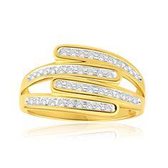 Diamond Dress Ring in 9ct Yellow Gold (1/4 Carat TW)