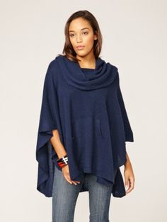 Gwendolyn Cashmere Oversized Cowl Poncho by Sea Bleu at Gilt Cashmere Poncho, Sweater Weather, Cowl Neck, Casual Wear, Fashion News, Style Me, Clothes For Women, Womens Fashion, How To Wear