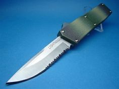 8  Lightning OTF Automatic with Camo Handle Serrated Silver Button SALE (Highest & Lightning Automatic OTF Knife Double Action - Black $30.00 ... azcodes.com