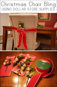 Easy Christmas Chair Bling