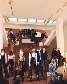 Jeans læder og rock'n'roll stemning til præsentation hos @frame denim  #ELLEiNewYork #modeuge #elledk  via ELLE DENMARK MAGAZINE OFFICIAL INSTAGRAM - Fashion Campaigns  Haute Couture  Advertising  Editorial Photography  Magazine Cover Designs  Supermodels  Runway Models