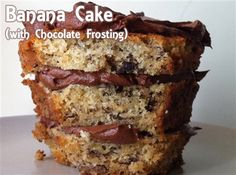 Banana cake with chocolate frosting....peanut butter frosting would be good too!