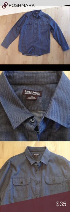Michael Kors XL casual dress shirt Micheal Kors Casual Dress Shirt. Lightly worn and in great condition. Please ask any questions. Smoke free home. MICHAEL Michael Kors Shirts Casual Button Down Shirts