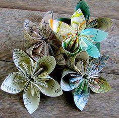 flores hechas de papel con instrucciones y tutorial