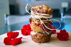 Whole Wheat Strawberry Oatmeal Muffins