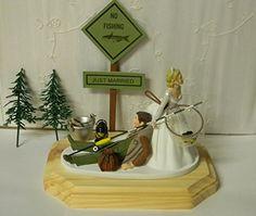 Crystal Rhinestone Covered Gold Monogram Wedding Cake Topper