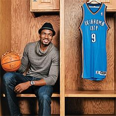 Serge Ibaka. Yes he fits my type tall, dark, handsome and has an accent. That's my weakness. THUNDER UP