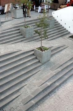 Landscape Stairs, Landscape And Urbanism, Landscape Elements, Landscape Architecture Design, Sustainable Architecture, Urban Landscape, Classical Architecture, Ancient Architecture, Landscape Lighting