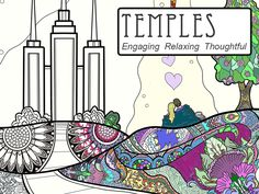 An intricately patterned coloring book based on Mormon Temples. Discover Christ in the designs as you color.