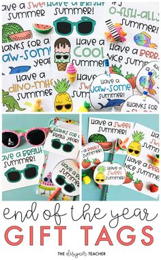 Pair these printable gift tags with erasers, pencils, or sunglasses for a perfectly cute and affordable end of the year student gift. Primary Classroom, Elementary Teacher, Classroom Activities, Classroom Ideas, End Of Year Activities, End Of School Year, Gift Tags Printable, School Parties, School Lessons