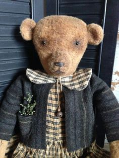 """""""Teddy bears don't need hearts as they are already stuffed with love.""""  -Unknown Bronwyn Bear Doll"""
