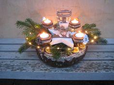 Adventskranz - ♥♥ wiederverwendbarer XL Landhaus Adventskranz ♥♥ - ein Designerstück von Sternenglanz-Clemens bei DaWanda