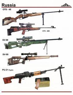 СССР / Россия: OTs-48, OTs-48K, SV-98, SV-99, ...