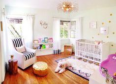 Ruby's Gorgeously Glam Nursery | via Apartment Therapy