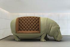 Altijd al op een olifant willen zitten? - Maximo Riera, spaanse kunstenaar, meubelcollectie, animal chair collection - Wonen Voor Mannen