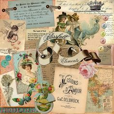 This is the blog of Kris Hurst who lives in Georgia.  She makes beautiful things out of paper and other ephemera.  She inspires me to get out and create.