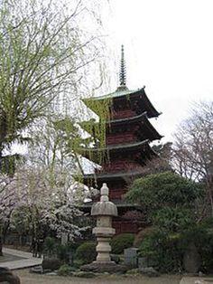 中山法華経寺 五重塔 (重要文化財、撮影:2006年3月)
