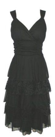 Cute black dress..