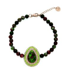"Ruby Zoisite Bracelet  8-9"" 14.96 carats #Unbranded #Beaded http://stores.ebay.com/JEWELRY-AND-GIFTS-BY-ALICE-AND-ANN 50% OFF"