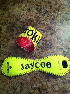 Softball Bracelet. $20.00, via Etsy.