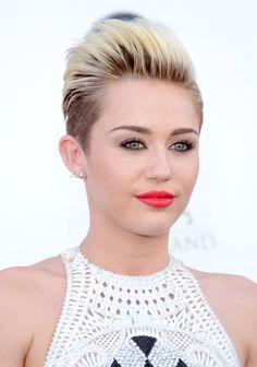 Miley Cyrus' bright red lip