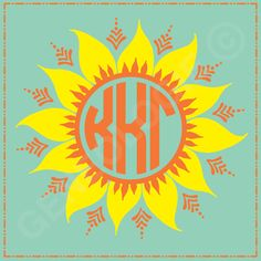 Geneologie | Greek Tee Shirts | Greek Tanks | Custom Apparel Design | Custom Greek Apparel | Sorority Tee Shirts | Sorority Tanks | Sorority Shirt Designs  | Sorority Shirt Ideas | Greek Life | Hand Drawn | Sorority | Sisterhood | KKG | Kappa Kappa Gamma | Sunflower | Bid Day | Monogram | Recruitment