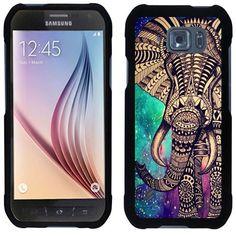 Amazon.com: URAKKI (TM) Aztec Elephant Design Slim Fit Hard Case Phone Cover for Samsung Galaxy S6 Active: Cell Phones & Accessories