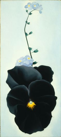 """Georgia O'Keeffe  """"Pansy"""" 1926.  Art Experience NYC  www.artexperiencenyc.com/social_login/?utm_source=pinterest_medium=pins_content=pinterest_pins_campaign=pinterest_initial"""