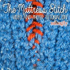 How to attach end together for infinity scarf. Mattress Stitch Seaming for #Crochet Projects - video and photo tutorial on Moogly