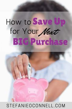 It can feel intimidating to make a purchase with a five figure price tag. Learn how to afford your big purchases in 2017 - house, car, vacation and more! Saving Ideas, Money Saving Tips, Money Tips, Living On A Budget, Frugal Living, Create A Budget, Save Money On Groceries, Earn More Money, Budgeting Money
