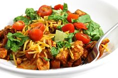 9 SP  The wonderful flavors of an enchilada made quickly in this one pan wonder! Dinner on the table in 35 minutes and absolutely hearty, healthy and delicious!Each serving has 380 calories, 9 grams of …