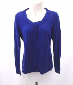 BANANA REPUBLIC Royal Blue Lightweight Sweater Women's Size Small #BananaRepublic #ScoopNeck