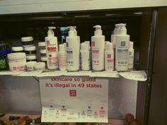Promotional poster for Apothecanna's marijuana pain relief creams at Karmaceuticals, a Denver dispensary.
