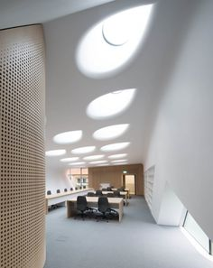 The Investcorp Building for Oxford Universitys Middle East Centre at St Antonys College, Oxford, 2015 - Zaha Hadid Architects Zaha Hadid Architects, Arquitetos Zaha Hadid, Zaha Hadid Design, Architecture Wallpaper, Interior Architecture, Interior Design, Building Architecture, University Architecture, Timber Panelling