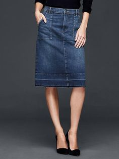 1969 denim pocket skirt   Gap stitch Fix stylist cute good length some interesting details not boring like that it is straighr but not too tight