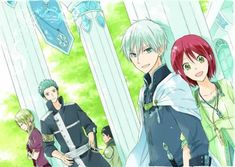 Akagami no Shirayuki-hime - Snow White with the Red Hair - Kiki, Mitsuhide, Zen, and Shirayuki