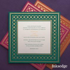 Sacred Impressions Saffron: Wedding Invitation Cards Bring the true Indian in you with this luxuriously Rajasthani Wedding Invitation. Decorated with Saffron and Gold, this invite will leave your guests starry eyed. Wedding Card Wordings, Hindu Wedding Cards, Indian Wedding Invitation Cards, Traditional Wedding Invitations, Wedding Invitations Online, Words For Wedding Card, Indian Invitations, Invitation Card Design, Invitation Envelopes
