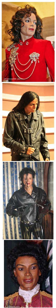 Las peores figuras de cera de Michael Jackson.