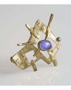 Zaffiro, fused textures 18k Gold, Star Sapphire 10,12 ct, DIF Diamonds ct 0,27