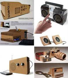 Actual functioning electronics made out of cardboard!
