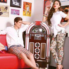 Calça confeccionada com artigo New Medley Estampado by Nanete Retook Jeans - Winter Collection 2013