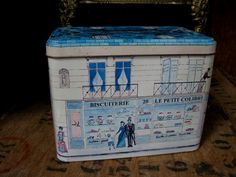 French Vintage Tin Vintage French Tin by MissieMooVintageRoom