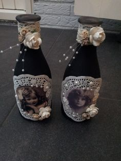 Zwart decoratie flesjes met een vleugje Nostalgie