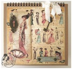 Learn how to make this A Ladies' Diary 8x8 Easel Album! #graphic45 #tutorials