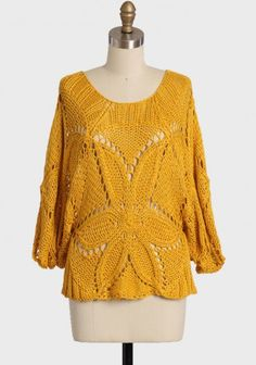 Morning glow open knit sweater