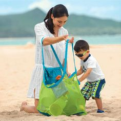 Outdoor Beach Sand Seaside Clothing Shoes Towel Toys Storage Holder Pouch Bag #Affiliate
