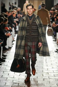 "tartan.  capes.  - today on the adventures of tartanscot™: ""Sunday Runway - Hackett Fall 2013 . . . """