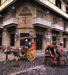The facade of Casa Manila in Intramuros(Philippines). This is a bahay-na-bato(stone house)turned into a museum and is a must-see.